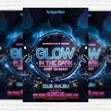 glow flyer glow party premium psd flyer template exclsiveflyer free and