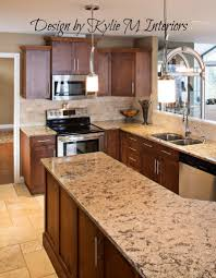 Kitchen Floor Cupboards Kitchen Travertine Floor Dark Caninet Backsplash Dark Maple