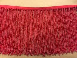 lamp shades lamp shade fringe 1 yard red glass seed bead beaded lampshade costume trim antique