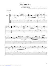 san francisco guitar pro tab by maxime le forestier noteslib sheet