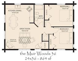 Small Log Cabin Floor Plans  COUNTRY COTTAGE FLOOR PLANS  House Open Log Home Floor Plans