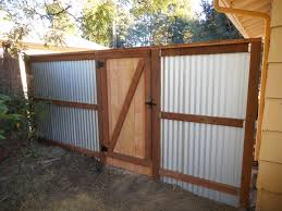 how to build sheet metal fence. Exellent How Corrugated Metal Fence Back Side Of Gate Gate To How Build Sheet Metal Fence P