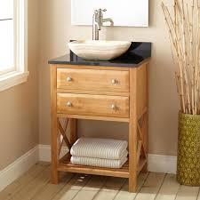 Bamboo Bathroom Cabinets 24 Narrow Depth Clinton Bamboo Vessel Sink Vanity Bathroom