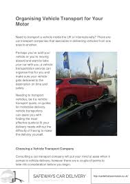 Car Transport Quote Enchanting Organising Vehicle Transport For Your Motor