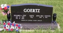 """Benjamin A. """"Ben"""" Goertz (1928-2004) - Find A Grave Memorial"""