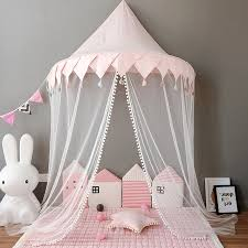 US $45.64 45% OFF|Foldable Kids Play Tents & Teepees Girls Princess Castle Baby Canopy Bed Curtains Play House For Children Infant Toddler Bedroom-in ...