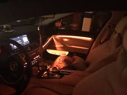 How To Change Bmw Interior Lights Color 2 Colors Led Ambient Lighting Of Bmw F10 Warm Orange And