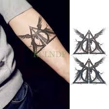 водостойкая временная татуировка наклейка гарри поттер и дары смерти лорд