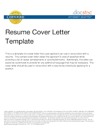 General Cover Letter Examples For Resume Resume For Study