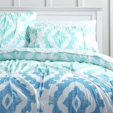 null blue ikat bedding print organic s quilt and sham blue bedding print coverlet ikat
