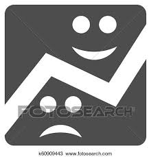 Chart Flat Icon Emotion Chart Flat Icon Drawing K60909443 Fotosearch
