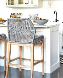 white modern counter stools these woven rope counter stools are such a fun unexpected kitchen accent