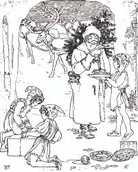 Free Vintage Christmas Coloring Page For