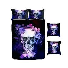 skull comforter king