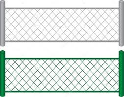 fence vector. chain link fence u2014 stock vector 9465255