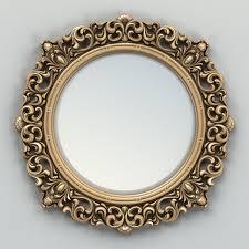 mirror frame. Fine Mirror Round Mirror Frame 001 3d Model Max Obj Fbx Stl 2 Throughout Mirror Frame O