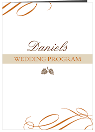 Wedding Program Scroll Elegant Fall Scrolls Wedding Programs
