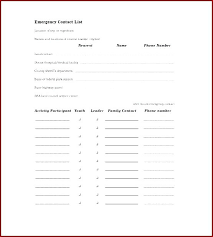 Phone Roster Template New Emergency Contact List Template Excel Haydenmediaco