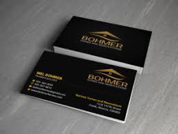 226 Bold Business Card Designs Home Builder Business Card Design