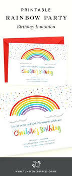 Circus Themed Baby Ser Invitations Rainbow Birthday Invitation