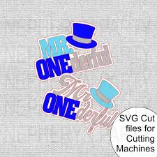 Possible uses for the files include: Mr Onederful Svg Cutting Files Nepheryn Party