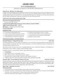 Emt Resume Examples Musiccityspiritsandcocktail Com