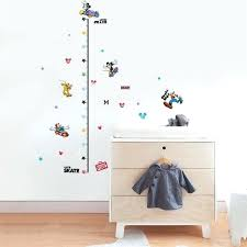 growth chart wall sticker cartoon mickey dog skate riding growth chart wall stickers for kids rooms