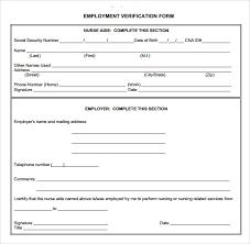 Free Employment Verification Form Template Impressive Proof Of Employment Job Verifications Form Vlcpeque 79