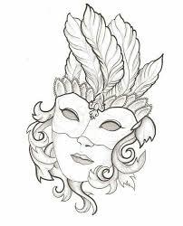 Pin Van Koen Noij Op Kleurplaten Maskers Venetiaanse Maskers En