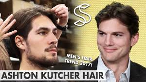 Middle Split Hair Style ashton kutcher hairstyle mens hair fashion 2017 middle 2160 by wearticles.com