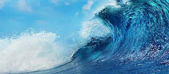 Ocean Wave Background Ocean Waves Background Ocean Wave Blue Background Image For Free