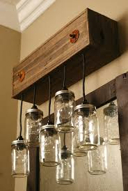 Rustic Bathroom Vanity Lights Fascinating Mason Jar Vanity Fixture Vanity Lighting Bathroom Lighting Rustic