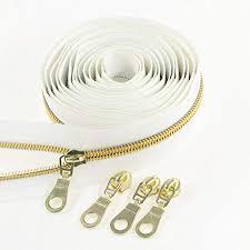 #5 Antique Gold Metallic Nylon Coil <b>Zippers</b> by The Yard Bulk 10 ...