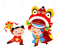 Kids Playing Lion Dance - Chinese New Year Royalty Free Cliparts, Vectors,  And Stock Illustration. Image 44506426.