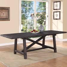 modus yosemite solid wood rectangular extension table cafe walmart