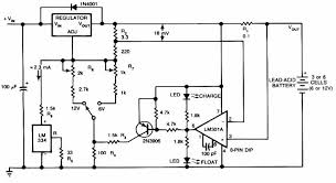 12v car battery charger schematic design lead acid battery charger