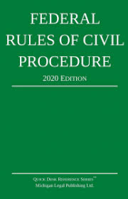 Civil Procedure Rules Chart Table Of Contents 2020 Federal Rules Of Civil Procedure