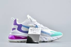 Blue Green Online Nike Air Max 270 React Wmns White Light Blue Aurora Green On
