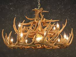 whitetail deer 24 cast antler chandelier w downlight 42x26 made in usa