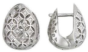Эстет <b>Серьги с 36</b> фианитами из серебра 01С158611 — купить ...