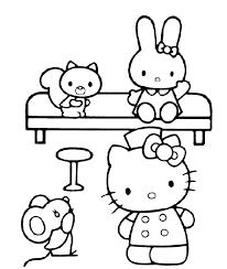 Hello Kitty Kleurplaat Voor Peuters En Kleuters Kleurplaten Van