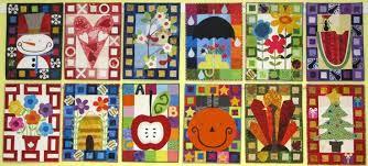 Calendar Quilts - Kim Schaefer - Pattern & 10 Kits &  Adamdwight.com