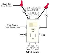 gfci outlet switch outlet wiring diagram gfci switch outlet wiring a gfci outlet and light switch video how to wire half gfci outlet switch combo