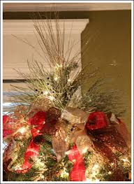 how to decorate a christmas tree with only ribbon and greenery, christmas  decorations, crafts