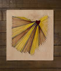 cleveland ohio string art with red yellow and blue thread on cleveland cavaliers wall art with cleveland cavaliers reclaimed wall art