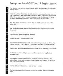 Australia Essay Year 12 English Essay Metaphor Quotes From Nsw Australia