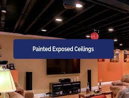 painted basement ceiling. ceilings-painted. rescon basement solutions painted ceiling