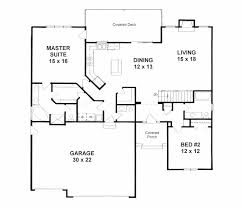 Traditional House Plan 62644 Level One