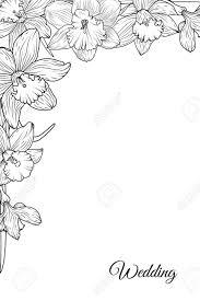 flowers border design black and white