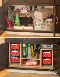 Undersink Cabinet Organizer With Pull Out Baskets The Kim Six Fix